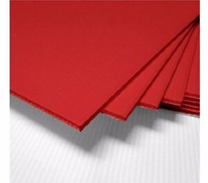 "50 pcs 18x24"" Plastic Corrugated 4mm RED Yard Bandit Sign Board Blank Sheets"