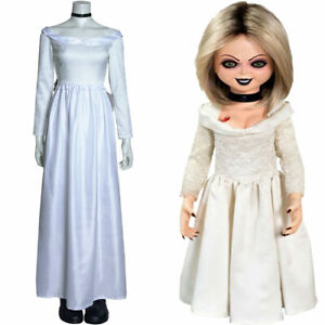 Bride of Chucky Tiffany Cosplay Costumes Long Dress Halloween Suit Outfit