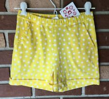 Hanna Andersson NWT 130 Girls 8 Yellow White Polka Dot Shorts With Pockets New