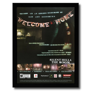Silent Hill 4: The Room Framed Print Ad/Poster Official PS2 Survival Horror Art
