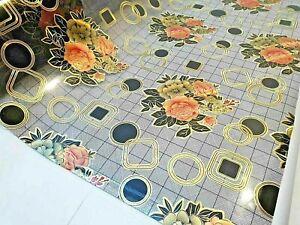 Tischdecke PVC  Tischfolie PVC  90 cm Breite transparent 1,7 mm, Meterware
