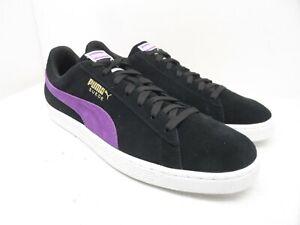 PUMA Men's Suede Classic Athletic Casual Shoes Black/Purple Size 12M