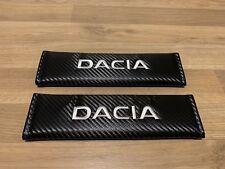 2X Seat Belt Pads Carbon Gifts Dacia Logan Sandero Stepway Duster MCV 1300 1310