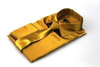Mens Gold Silk Satin Dress Shirt Italian Design All Sizes S M L XL XXL 3XL 4XL