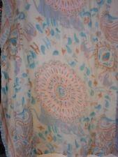 Blues Purples Elephants Tigers scarf wrap