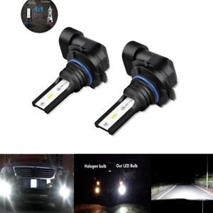 2x Fog Lights Bulbs for FORD Mustang GT 2005-2012 6000K 80W H10 CSP LED Lamp