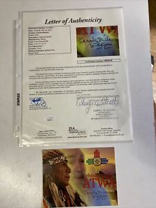 🔥Signed Charles Manson ATWA Postcard JSA COA Rare🔥