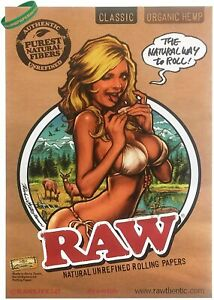 RAW Classic Organic Paper Girl Poster Banner - Artwork by Rockin' Jelly Bean