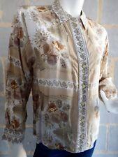 Chemisier Vintage Jean Chantel motif fleuri coloris d'automne T. M