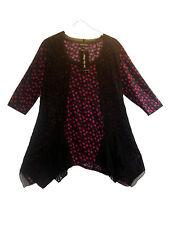 3/4 Arme Damenblusen,-Tops & -Shirts mit Rundhals und Stretch für Business