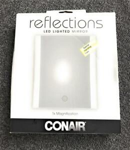 Conair Reflections LED Lighted Makeup Mirror, 1x Magnification, Glossy Finish