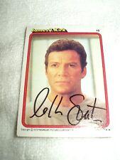 Star Trek Autograph Card William Shatner 1997 Signed Las Vegas 2007 with COA