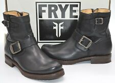 """New $298 Frye Veronica 6"""" Shortie Black Leather Ankle/Short Bootie Boots Moto"""