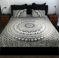 Mandala Handcrafted Reversible Boho Indian Queen Size Donna Duvet Cover Bedding
