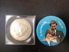 Prince Charles and Princess Diana Royal Wedding 1981 - Coin and Badge