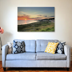 Woolacombe Night - Various Sizes - North Devon Canvas - Ready to Hang