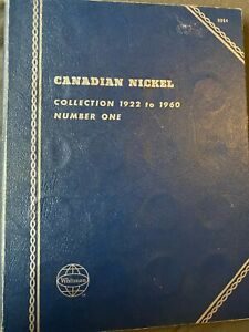 Set of 37 Canadian Nickels from 1922-1960 in a classic Whitman Folder.