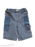 Kanz Hose Cargohose Jeans Jungen Gummibund blau gestreift Gr.80
