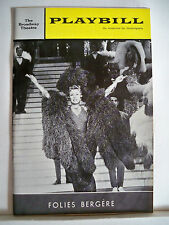 FOLIES BERGERE Playbill PATACHOU / LILIANE MONTEVECCHI / GEORGES ULMER NYC 1964