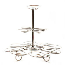 3 Tier Silver Cupcake Stand Cake Decorating Bakery Vintage Chic Wedding Metal