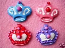 20 Cute Princess Crown Resin Flatback Button/bow/Craft/Pink/Girl/decoration B122