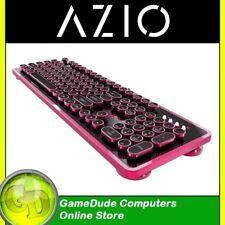Pink / Black Typewriter Inspired Mechanical Keyboard AZIO MK-RETRO-05 [f36]