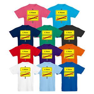 Kinder T-Shirt Grundschule Schule Einschulung Fünftklässler Fun Motiv Kids
