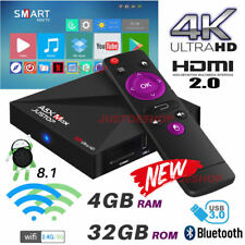 2019 A5X MAX Quad Core 4GB+32GB Android 8.1 Oreo TV Box 4K K17.6 HD Media Player