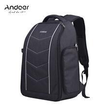 Andoer Professional 600D Fabric Material Camera Backpack Bag for 2 DSLR Cameras