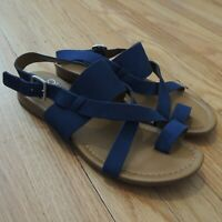 Franco Sarto Sandals Womens Size 7 Blue Leather Strap