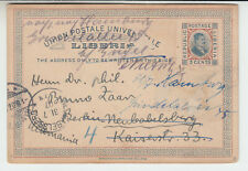 Liberia # X4 1892 Postal Card USED to Neubabelsberg, Germany