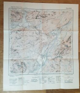 1949 German Bavarian Topographic Map Ettal 863 1:25000