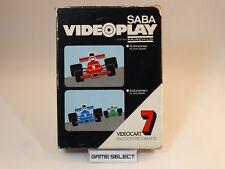CARTUCCIA GIOCO 7 AUTORENNEN SABA VIDEOPLAY FAIRCHILD CHANNEL F BOXED BOXATO