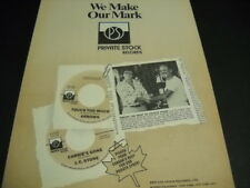 MICKIE MOST Larry Uttal THE ARROWS and J.C Stone 1974 Private Stock promo ad