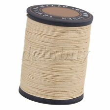 0.55mm Dia Beige Flax Waxed Cord Linen Stitching Thread for Craft DIY