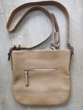 NEW Coach Hampton Cream Leather Medium Zip-top Shoulder Messenger Handbag  £250 06366e49d6f16