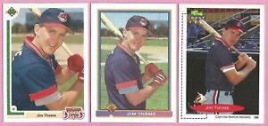 1991 Bowman Baseball #68 Upper Deck #17F Classic Jim Thome Rookie Cards RC  *A7