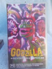 GODVILLA DESTROY ALL MONSTERS (SIREN No MONSTER 004)VHS TAPE PG(LIKE NEW)