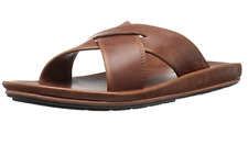 Men's Frye Brent Slide Sandals Cross-strap Size 11 Brown MSRP $150