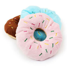 Sightly Lovely Pet Dog Puppy Cat Squeaker Quack Sound Toy Chew Donut Play Toys