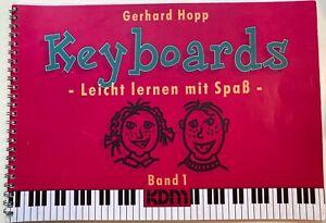 Keyboards Leicht lernen mit Spaß Band 1 Gerhard Hopp Keyboardschule Noten