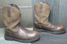 Mens ARIAT Groundbreaker Pull On Steel Toe Leather Work Boots 11.5 D