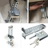 Car Clutch 8 Holes Lock Brake Security Stainless Lock Anti-theft Device Chrome