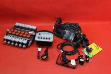 HYDRAULIC BANK MOTOR 6 SPOOL VALVES 80L/MIN ELECTRIC 12V + Control Panel