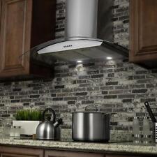European Style Kitchen Range Hood Stove Exhaust Fan Wall Mount Carbon Filter Led