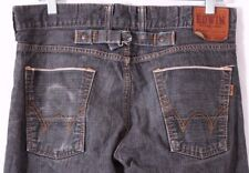 Edwin 505 Selvage Vintage Darkwash Slim Skinny Denim distressed Jeans Men 31