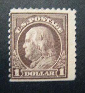 1917 $1 Franklin, violet brown S#518 MPH OG VG
