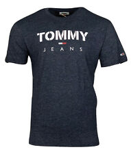 Tommy Hilfiger Men's Crew Neck Cotton Graphic Tommy Jeans T-Shirt - Dark Grey