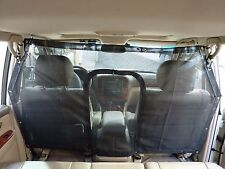 "Large Car Seat Mesh Net Pet Barrier with zipper door 58""L x 37""H"