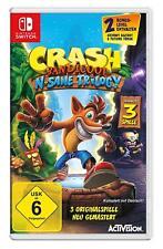 Nintendo Interruptor Juego Crash Bandicoot DHL Envío en Paquete Producto Nuevo